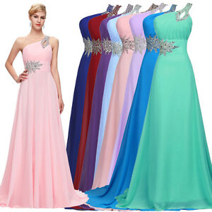 Grace Karin Chiffon Long Maxi Formal Evening Party Prom Cocktail Dress Ball Gown