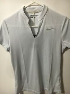 NIKE DRY-FIT TEXTURE WOMEN'S GOLF SHIRT New With Tags Med  Gray $85 Retail