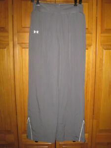 Under Armour All Season Gear track pants women's S gray running fitness NWOT