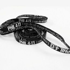 Black Shoe Laces with Phil 4:13 in white-48 inches Shields of Strength