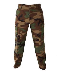Woodland Camo MENS BDU Cargo Pants Mens Military Camouflage Pants S TO 2X