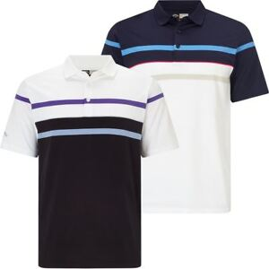 Callaway Golf 2018 Mens Opti-Dri Refined Stripe RoadMap Golf Polo Shirt