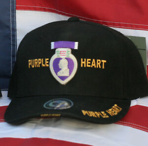 PURPLE HEART HAT COMBAT WOUNDED US ARMY MARINES NAVY AIR FORCE PIN UP VETERAN