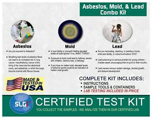 Asbestos Lead and Mold Combo Test Kit (5 Bus. Days) Schneider Labs