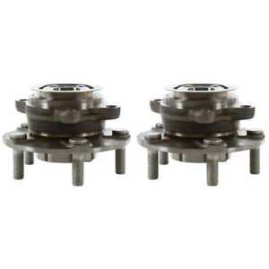 Pair Front Wheel Hub Bearing for 2011 2012 2013 Nissan Rogue ALL TYPES