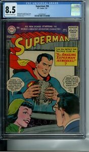 SUPERMAN #98 CGC 8.5 OFF-WHITE TO WHITE PAGES 10 CENT ISSUE