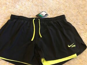 Womens NIKE Black with neon shorts XL