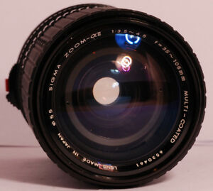 Sigma ZOOM A II 35-105mm f/3.5-4.5 Lens, Pre-Owned, Working Condition #6530461