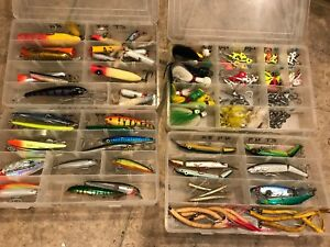 TACKLE BOX LOT LOADED   Fishing Lures