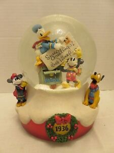 Disney Sankyo We Wish You A Merry Christmas Music Box 1936 Reproduction Japan LE