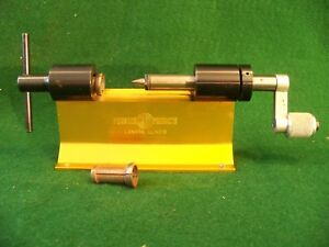 Nice Forster Case Trimmer w #1 & #8 Colletts for Reloading RCBS Lee Hornady