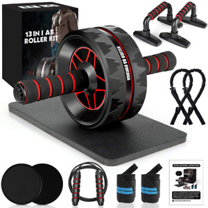 13 in 1 Abdominal Home Gym Abs Workout Kit with Knee Pad Equipment for Men Women $41.26