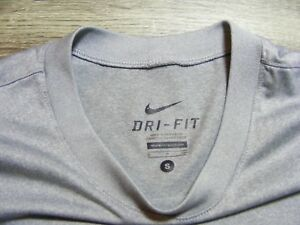Child's Dry-Fit Nike tee shirt grey and black size S m
