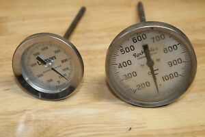 LOT OF 2 CASTING MELTING THERMOMETERS 1000 DEGREE LEAD LYMAN ROCHESTER