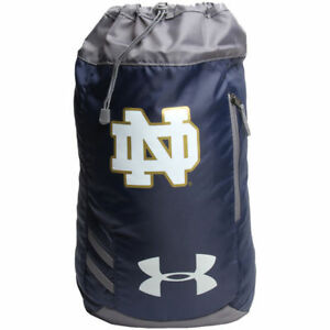 NWT Under Armour Notre Dame Fighting Irish Trance Sackpack Gym Backpack Navy Bag