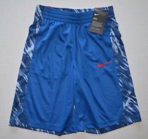 NWT NIKE Dry Dri Fit Boy's Youth Basketball Athletic Shorts 856065 429 Size XS