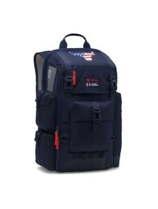 NEW Under Armour UA Project Rock Freedom Regiment Backpack Navy Blue 1303064