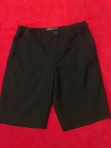 Nike Golf Dry-Fit Boy's Solid Tech Golf Shorts Black 510503-010 S *EUC*