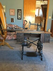 antique sewing machine table $150.00