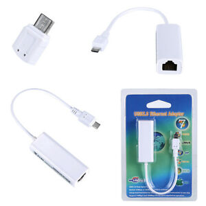 Android Tablet Micro USB 2.0 Ethernet RJ45 socket Network Lan Adapter Card PRIM1
