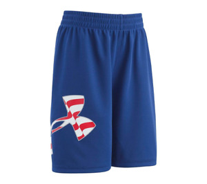 Under Armour Big Logo USA Stars Stripes Athletic Shorts Toddler Little Boys NWT