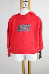 Nike Dry Fit Shirt Boy's Boy Size 2T Dri-Fit NWT NEW Hoodie Jacket Sweat Red
