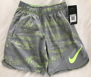 NWT! Nike Boys DRI-FIT Dry Training Shorts $45 850448-012 XS X-Small