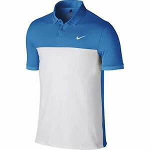 Nike Men's Dri-Fit Golf Icon Color Block Polo Athletic Sport Shirt Size S - 2XL