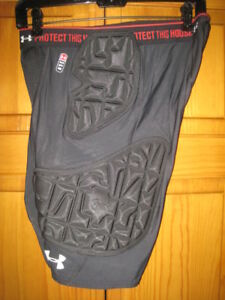 Under Armour MPZ 5 pad football girdle men's L black padded shorts