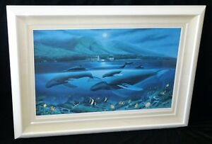 1980 Hawaii Litho Color Print 141450 Whales under