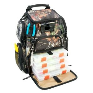 Wild River Recon Fishing Backpack Tackle Box Bag Mossy Oak Lighted  Wct503