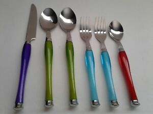 FOOD NETWORK COLORFUL Flatware - 1 KNIVES, 2 FORKS, 3 SPOONS   (G1)