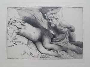 REMBRANDT Amand Durand Signed Etching JUPITER AND ANTIOPE THE LARGER PLATE $169.99