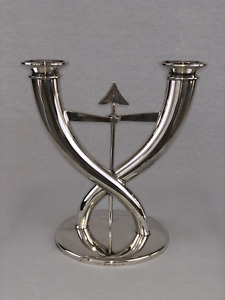 Christofle Cupids Cross  - Silver Plate Candelabra - by Gio Ponti
