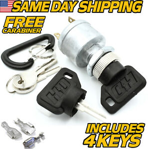 EZGO Golf Cart Ignition Switch 17421G1, 2 Prong 4 Key FREE Terminals