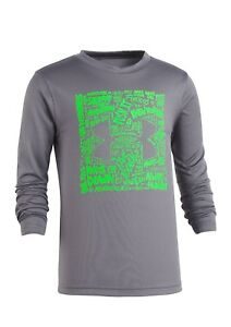Under Armour Boys Football Game Plan Screen Tee Graphite Size 3T