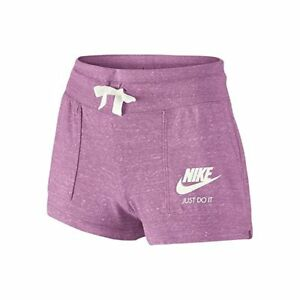 Nike Girls Vintage Gym Shorts Running Shorts WPockets Orchid Purple Size S NWT