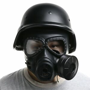 AIRSOFT MASK OUTDOOR SPORTS TACTICAL PAINTBALL M04 MASK & M88 HELMET SET BLACK