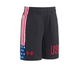 Under Armour Boys USA Stars and Stripes Graphic-Print Shorts Size 3T