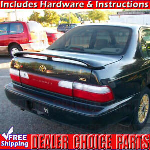 For 1993 94 95 96 1997 Toyota Corolla Factory Style Spoiler w/LED UNPAINTED