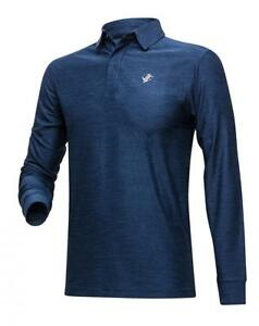 Jolt Gear Men's Dry Fit Long Sleeve Polo Golf Shirt Moisture Wicking