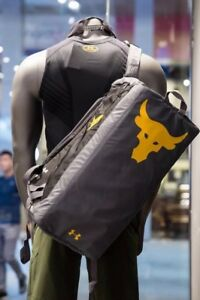 NEW Under Armour Project Rock Delta UA Contain Duo+ Backpack Duffel Bag The Rock