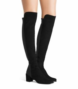 NIB Stuart Weitzman The 5050BLOCK Boot Over-the-Knee Boot Suede Black size 8M