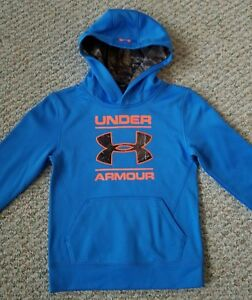 Under Armour NEW wTags Youth Blue wOrange and Realtree Camo Hoodie Size 7