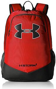 Under Armour UA Storm Scrimmage Backpack Red Camp Sport Travel School Bag