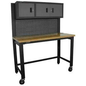 Homak Security GS00659131 Reloading Bench in Gray