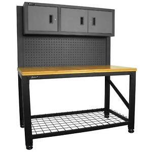 Homak Security GS00659031 Reloading Bench in Gray
