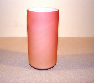 ANTIQUE CASED SATIN GLASS RASPBERRY OPALESCENT TUMBLER