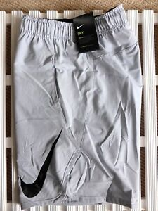 L or XL NIKE DRY Light Grey Shorts Running Gym Leisure SIDE POCKETS Mens NEW