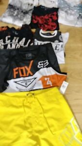 13 pc Designer Clothing lot Oakley Polo Under Armour Affliction Silver Fox Shirt